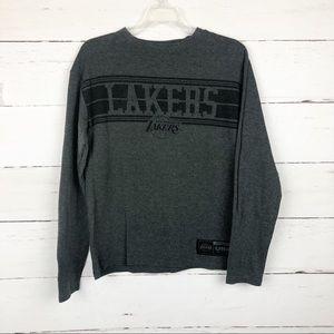 UNK NBA Lakers Thermal Long Sleeve Gray Black L
